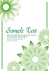 Vector clipart: Green floral card