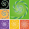 Vector clipart: Set of backgrounds with curls