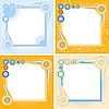 Vector clipart: square frames