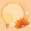 Vector clipart: Autumn background