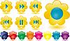 Vector clipart: music buttons