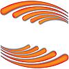 Vector clipart: Orange wave