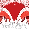Vector clipart: red Christmas card