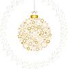 Vector clipart: Christmas decoration card