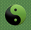 Vector clipart: green Yin Yang symbol