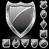 Vector clipart: Set of security shields