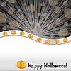 Векторный клипарт: открытка на Хэллоуин