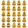 Vector clipart: Halloween pumpkin faces
