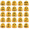 Vector clipart: Halloween pumpkins