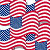 Abstract seamless background with USA flag pattern