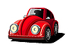 Vector clipart: red car cartoon