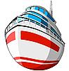 Векторный клипарт: кораблик