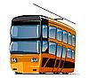 Vector clipart: Double tram