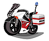 Vector clipart: ambulance motorcycle