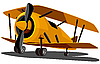 Cartoon old airplane | Stock Vector Graphics