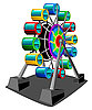 Vector clipart: Ferris wheel