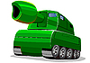 Vector clipart: green tank