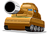 Vector clipart: brown tank