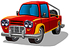 Vector clipart: red e-car