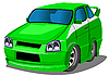 Vector clipart: green racing car