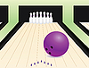 Vector clipart: bowling alley