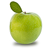 Green apple isolated  | Stock Foto