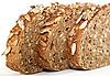 Bread. Three slices   Stock Foto