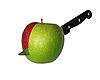 Cut apple isolated | Stock Foto