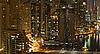 City in the night, Dubai | Stock Foto