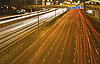 Traffic on the night road | Stock Foto