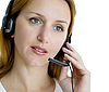 Woman with headset | Stock Foto