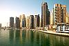 여름에 마 풍경입니다. 두바이 마리나. | Stock Foto