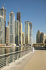 Photo 300 DPI: Town scape at summer. Dubai Marina.