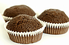 Chocolate muffins | Stock Foto