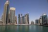 여름에 마 풍경입니다. 파노라마 장면, 두바이.   Stock Foto
