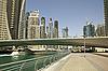 Town scape at summer. Panoramic scene, Dubai. | Stock Foto