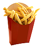 Photo 300 DPI: French fries in the red box