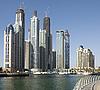 여름에 마 풍경입니다. 파노라마 장면, 두바이. | Stock Foto