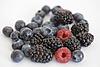 Blueberry, blackberry and raspberry  | Stock Foto