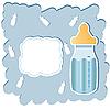 Baby bottles blue | Stock Illustration