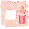粉红色的婴儿奶瓶 | 光栅插图