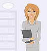 Business woman at the office | Stock Illustration