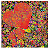 Photo 300 DPI: Flower background with hearts