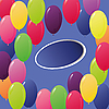 Photo 300 DPI: colored balloons as greeting card