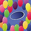 贺卡的彩色气球 | 光栅插图