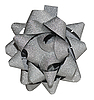 Grey shiny gift bow  | Stock Foto