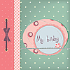 Baby girl greeting card | Stock Illustration