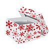 Christmas box with snowflakes | Stock Illustration