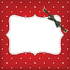 Photo 300 DPI: greeting christmas card with frame and bow