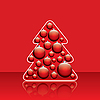 Christmas tree with red balls | Stock Illustration